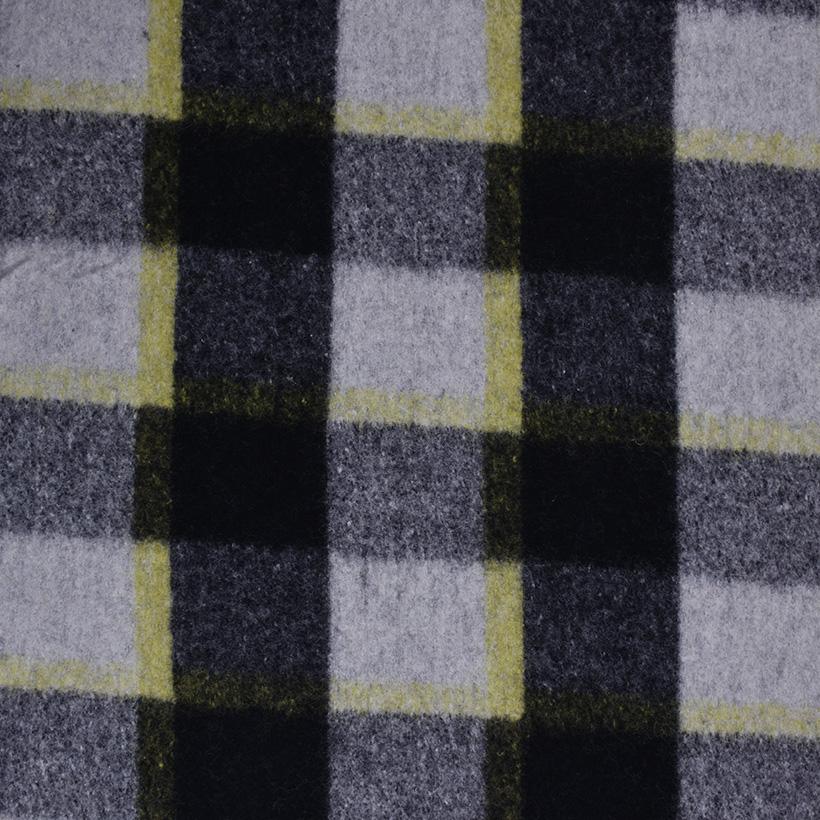 格子 呢料 柔软 羊毛 大衣 外套 女装 70404-1