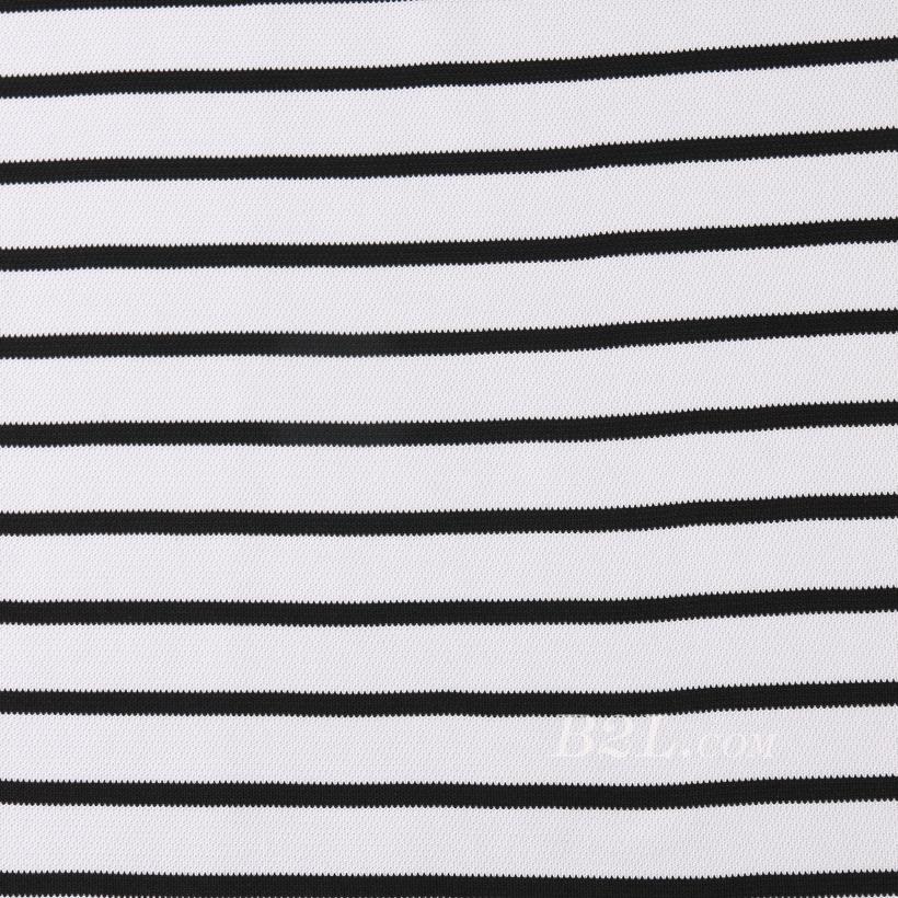 针织染色圆机弹力横条纹罗纹面料-春夏秋针织衫T恤连衣裙面料60312-93