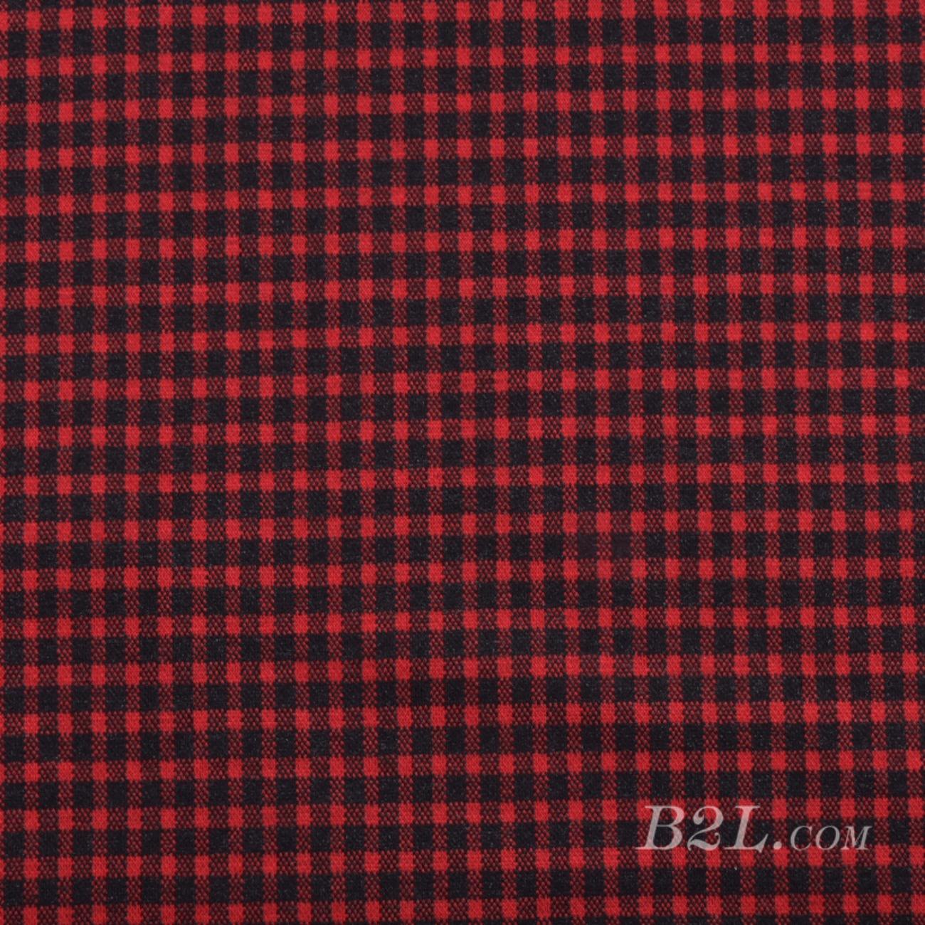 针织染色格子面料-春秋冬连衣裙半身裙休闲服面料Z938