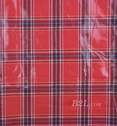 格子 梭織 色織 PU復合 彈力 春秋 大衣 外套 女裝 80714-13