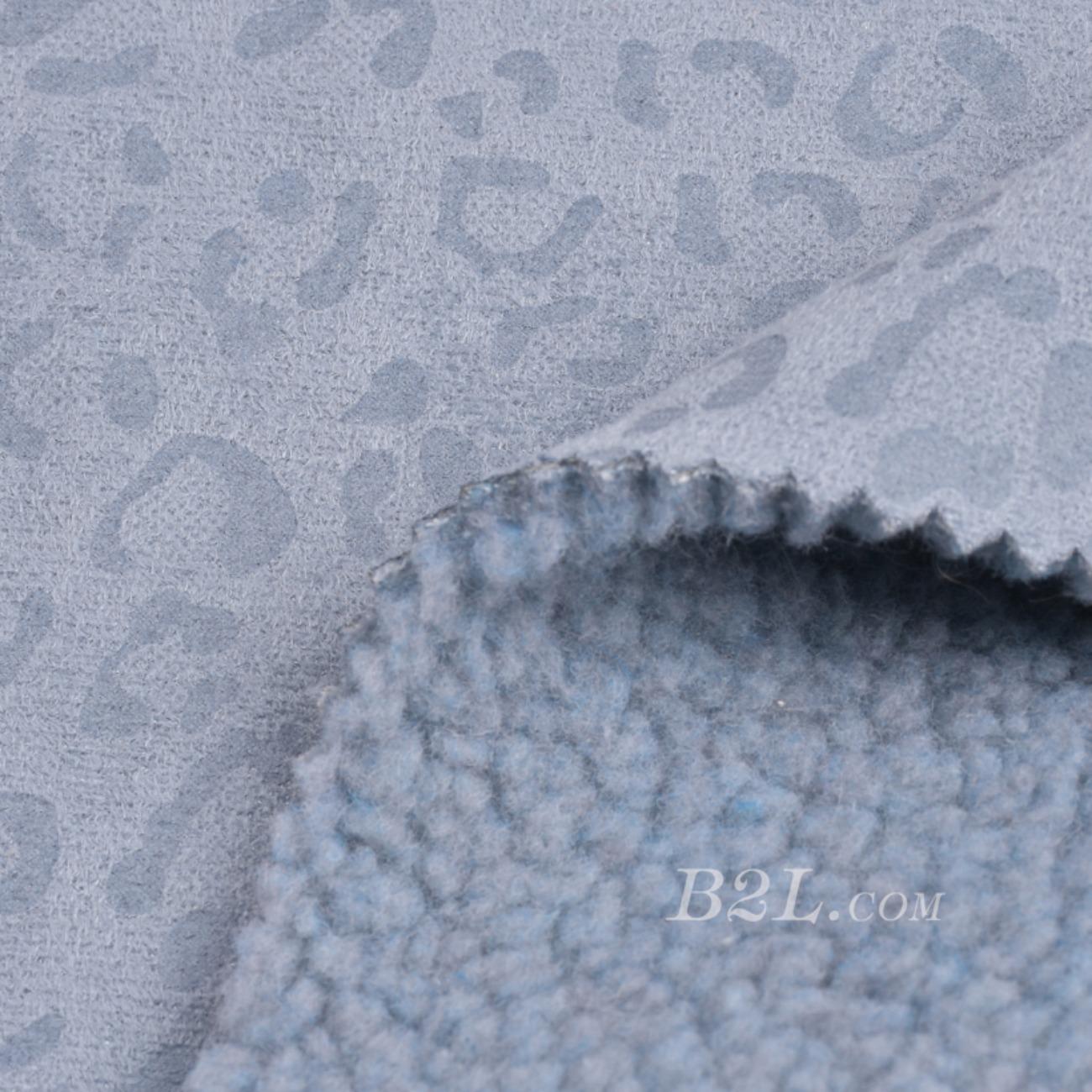 现货供应染色的豹纹印花皮毛一体面料-春秋冬款大衣外套夹克马甲面料90313-21