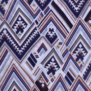 人棉期貨幾何梭織印花無彈襯衫連衣裙 短裙 薄 棉感 70522-58