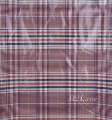 格子 梭織 色織 PU復合 低彈 春秋 大衣 外套 女裝 80714-23