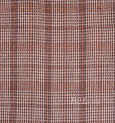 毛纺 格子 羊毛 粗纺 双面呢 色织 低弹 秋冬 大衣 外套 女装 81028-13
