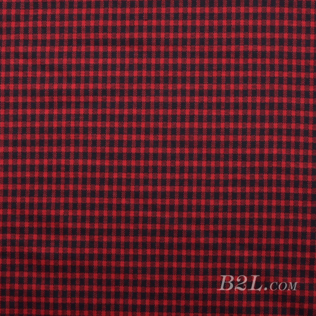 针织染色格子面料-春秋冬休闲服半身裙面料Z933