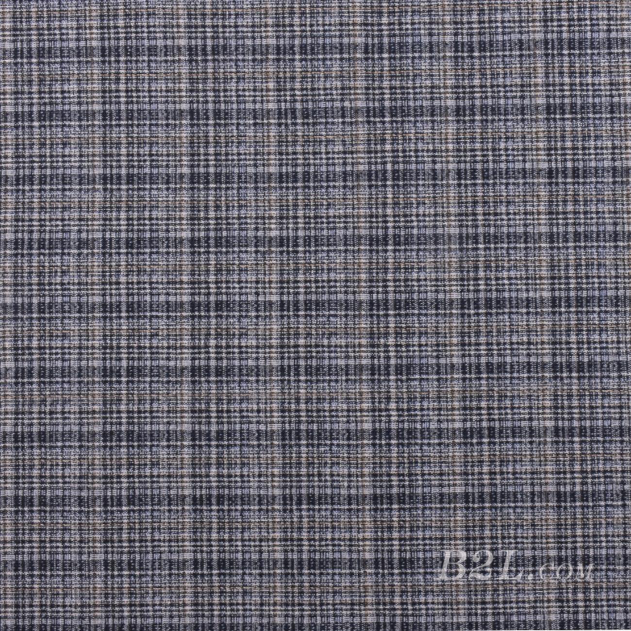 針織染色毛紡格子面料-春秋冬大衣外套面料Z760