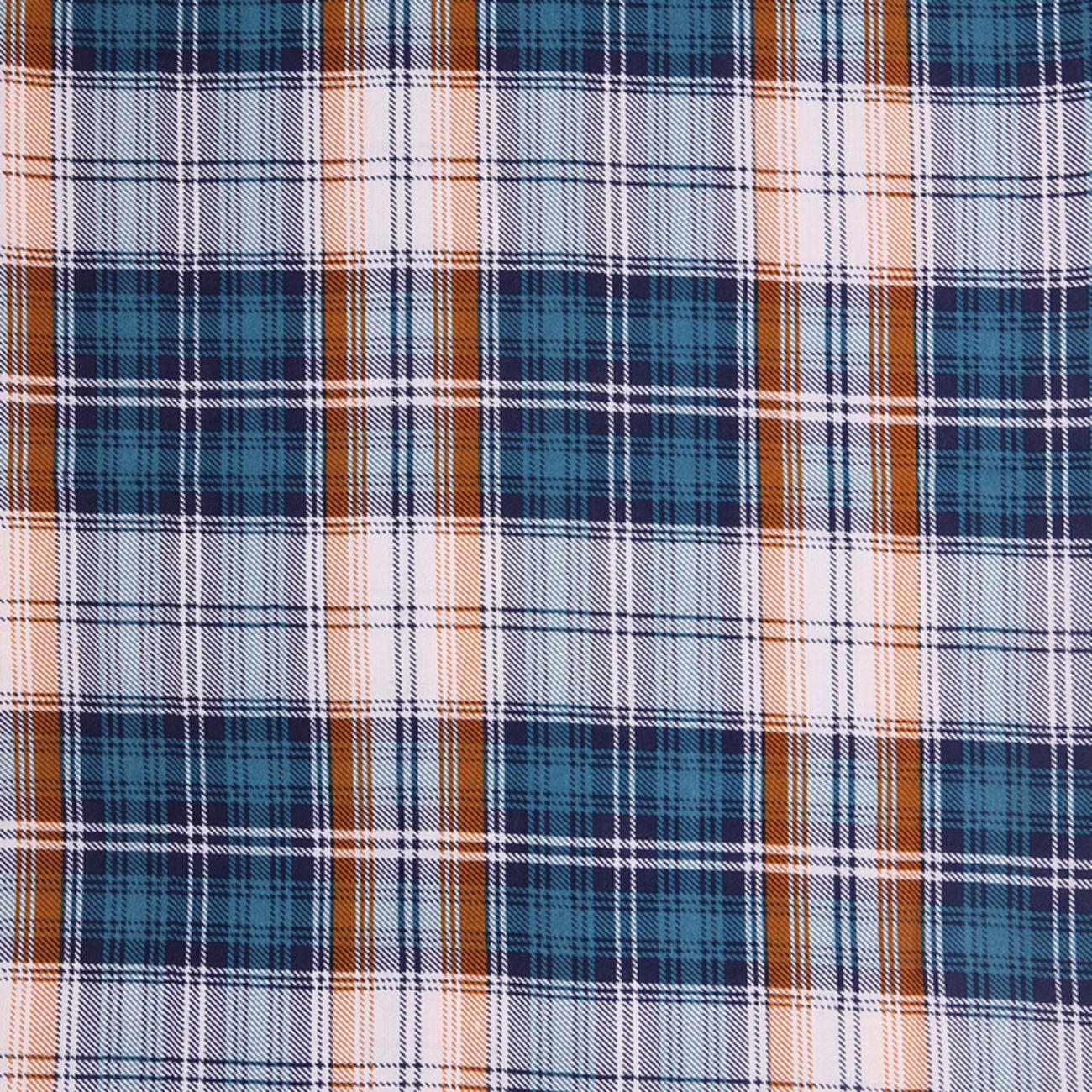 人棉期貨格子梭織印花無彈襯衫連衣裙 短裙 薄 棉感 70522-29
