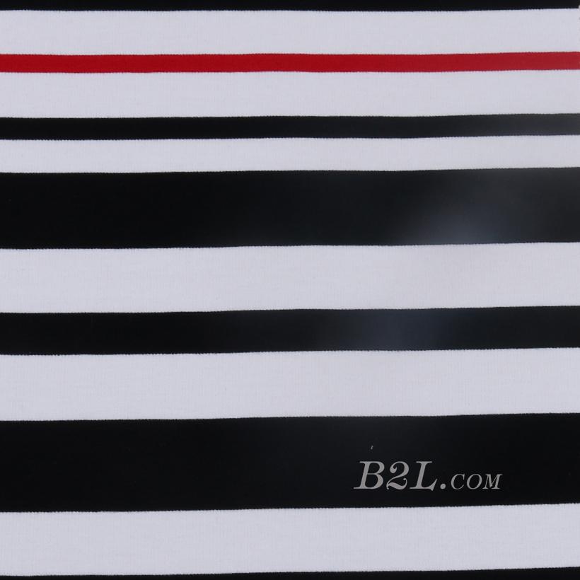 条子 横条圆机针织 纬编T恤 连衣裙 针织衫 棉感弹力柔软定位  60311-19