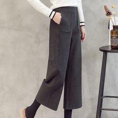 【小腿粗的人选择什么裤子】九分直筒休闲裤