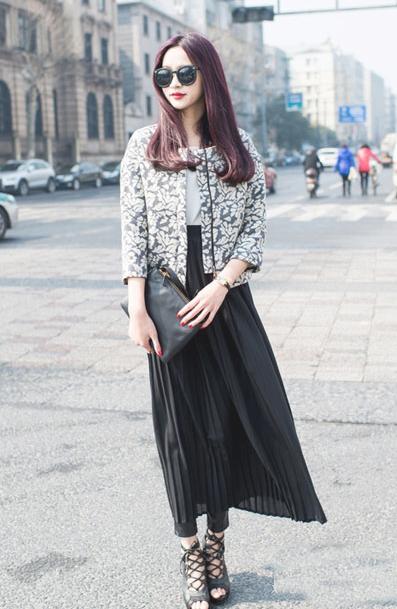 【高个子女生怎么穿衣搭配好看】半身长裙能助你个性时尚
