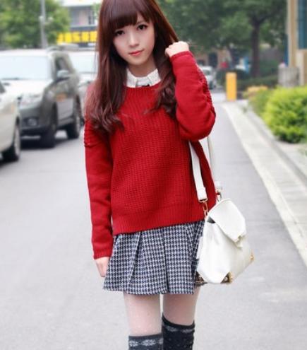 女生针织衫搭配