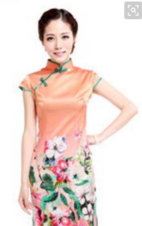 中国丝绸袍