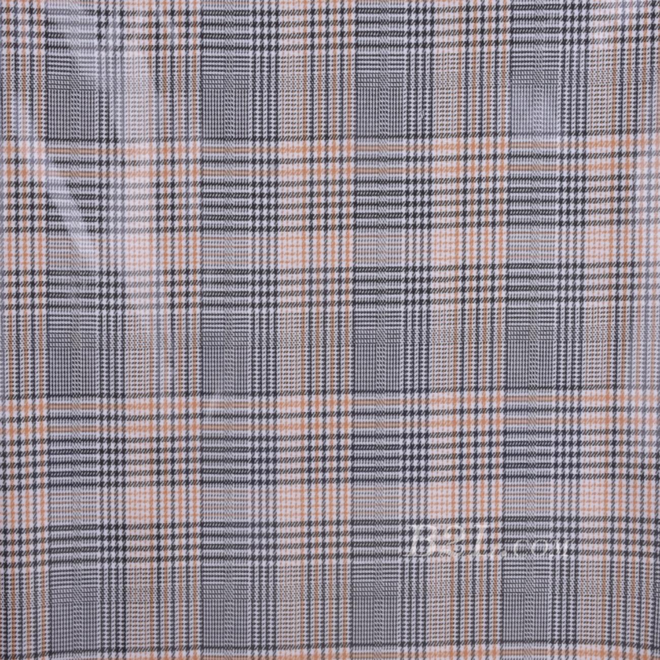 格子 梭织 色织 PU复合 低弹 春秋 大衣 外套 女装 80714-22