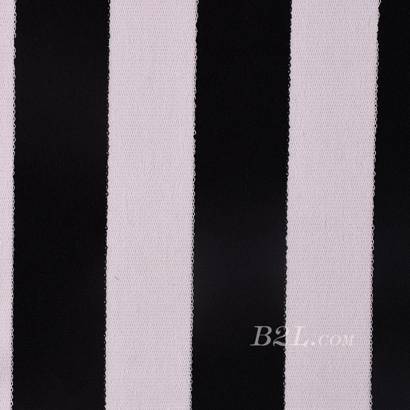 条子 横条 圆机 针织 纬编 T恤 针织衫 连衣裙 棉感 弹力 60312-15
