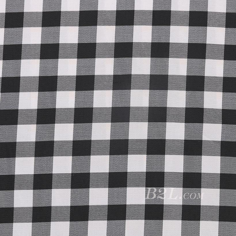 格子 全涤 梭织 色织 无弹 衬衫 外套里布 大衣里布 短裤 薄 光面 60324-35