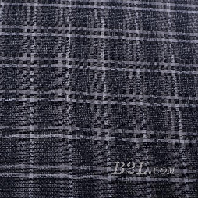 格子 棉感 色织 斜纹 无弹 外套 大衣 连衣裙 60620-8