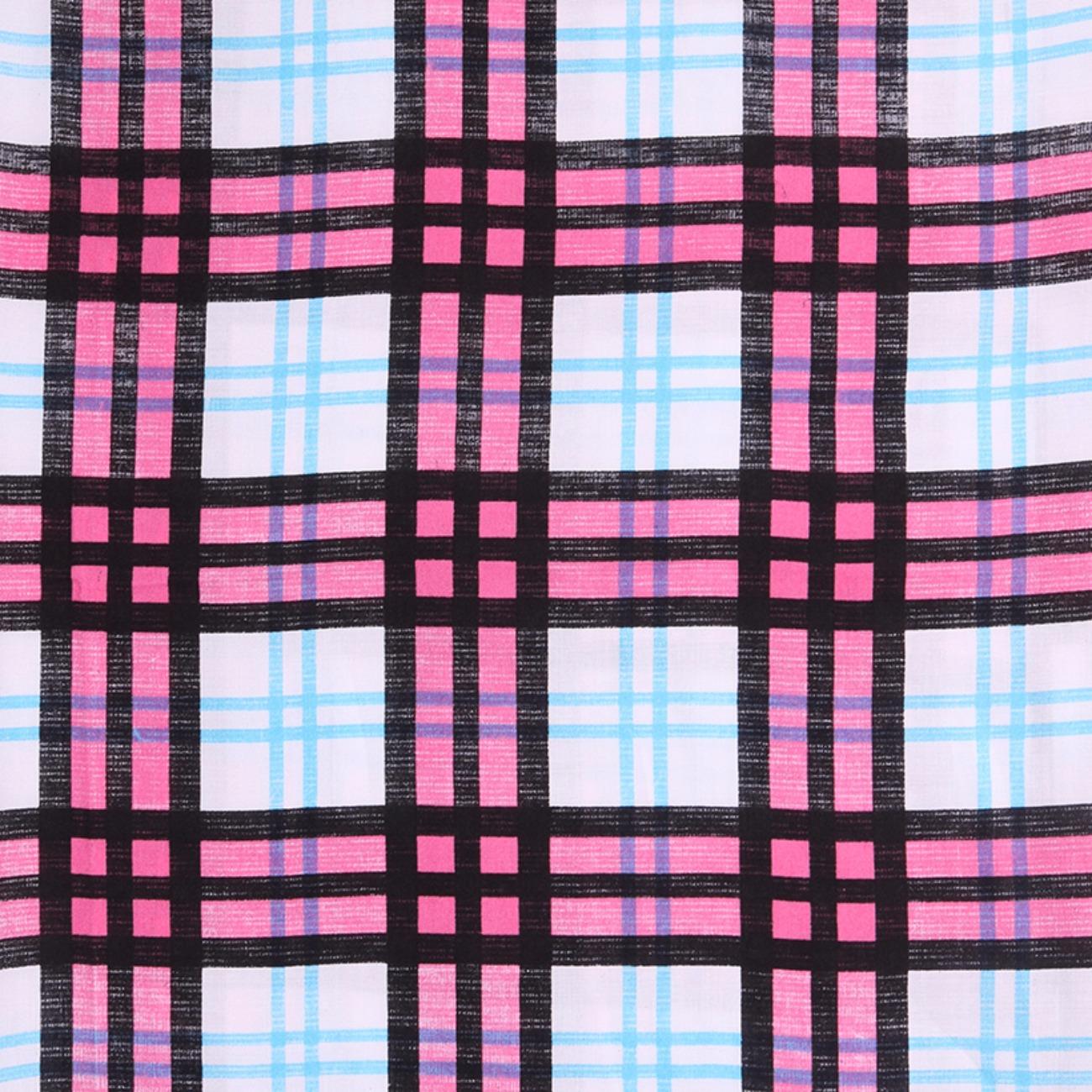 人棉期货格子梭织印花无弹衬衫连衣裙 短裙 薄 棉感 70522-37