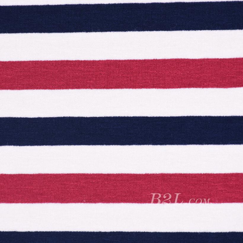 条子 横条 圆机 针织 纬编 T恤 针织衫 连衣裙 棉感 弹力 60312-168