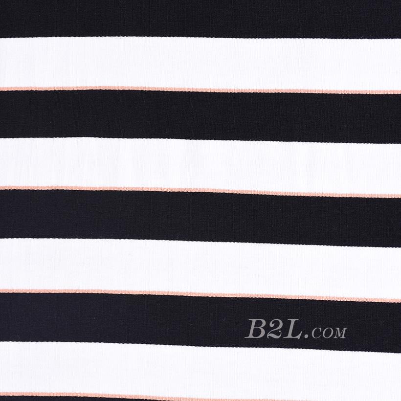 条子 横条 圆机 针织 纬编 T恤 针织衫 连衣裙 棉感 弹力 60312-172
