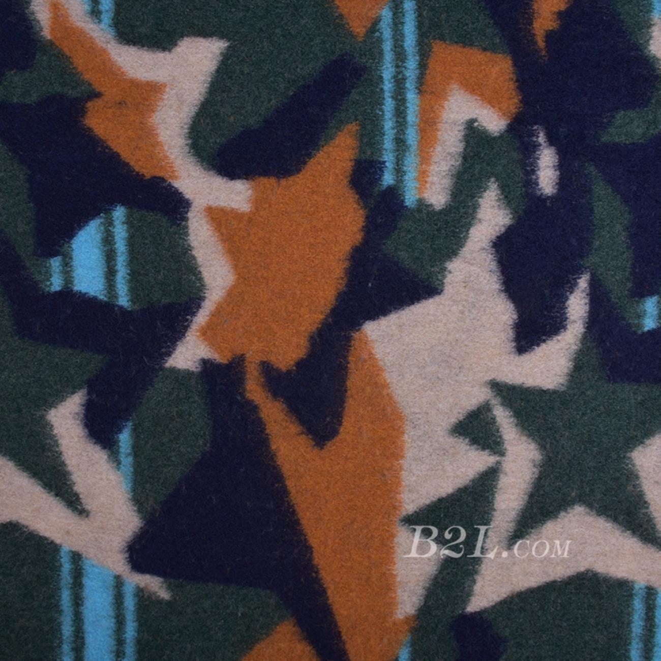 毛纺 几何 色织  羊毛 提花 大衣 外套 女装80705-8