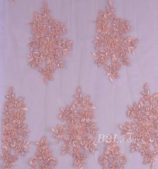 绣花 珠片绣花 花朵 礼服 婚纱 期货 经编机 染色 刺绣 手工 低弹 薄 纱感 60916-8