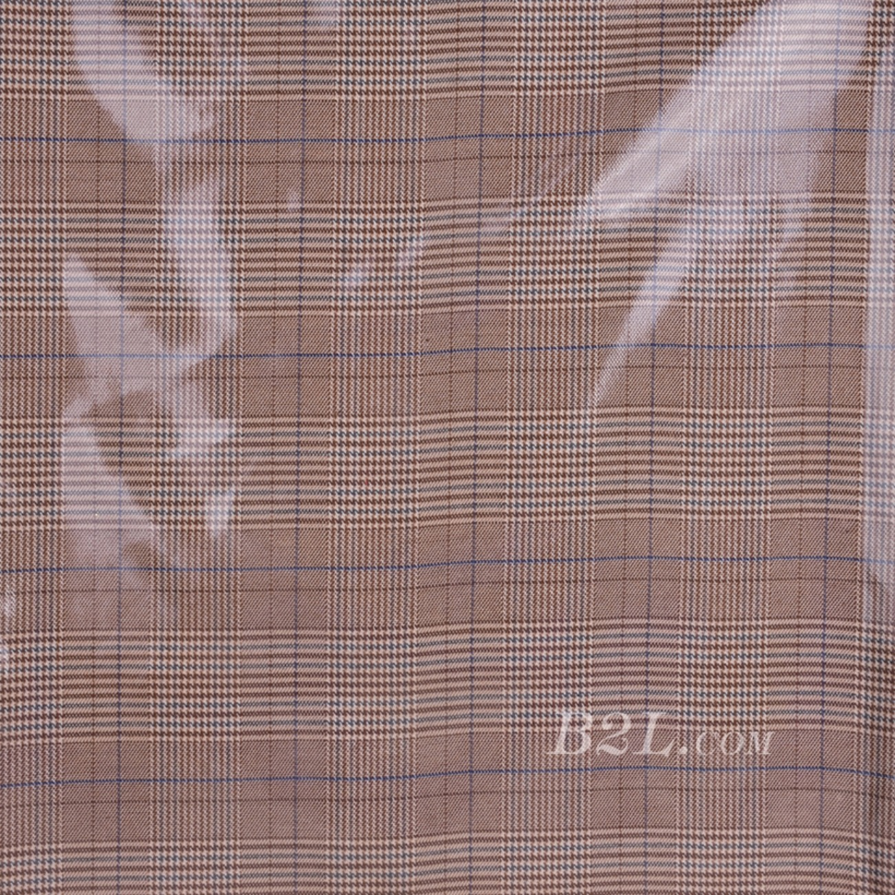 格子 梭织 色织 PU复合 低弹 春秋 大衣 外套 女装 80714-17