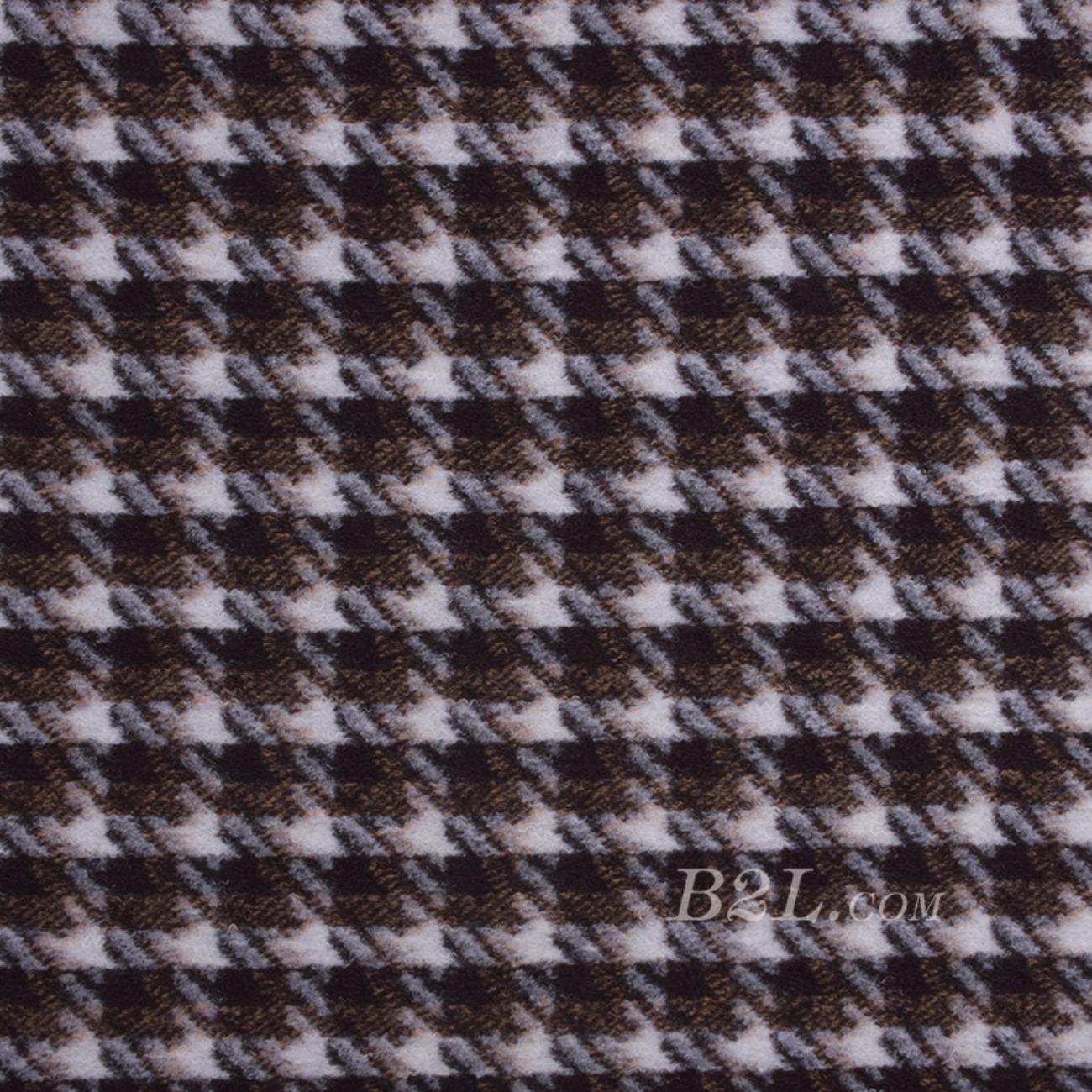 毛纺 格子 提花 色织 绒感 无弹 秋冬 大衣 外套 女装 80720-5