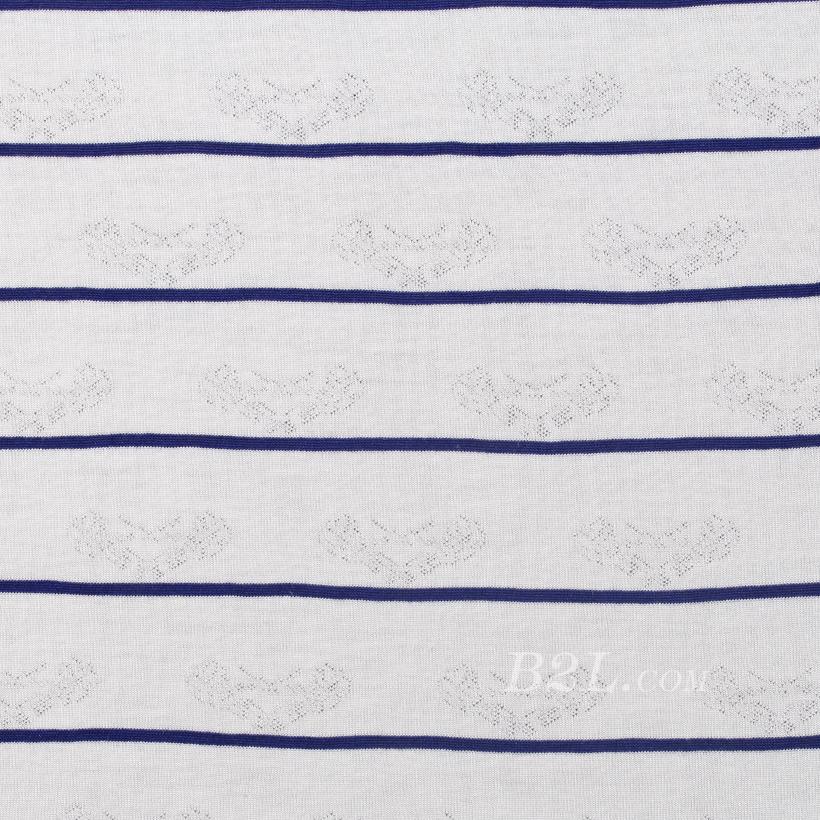条子 横条 圆机 针织 纬编 T恤 针织衫 连衣裙 棉感 弹力 爱心 60312-88