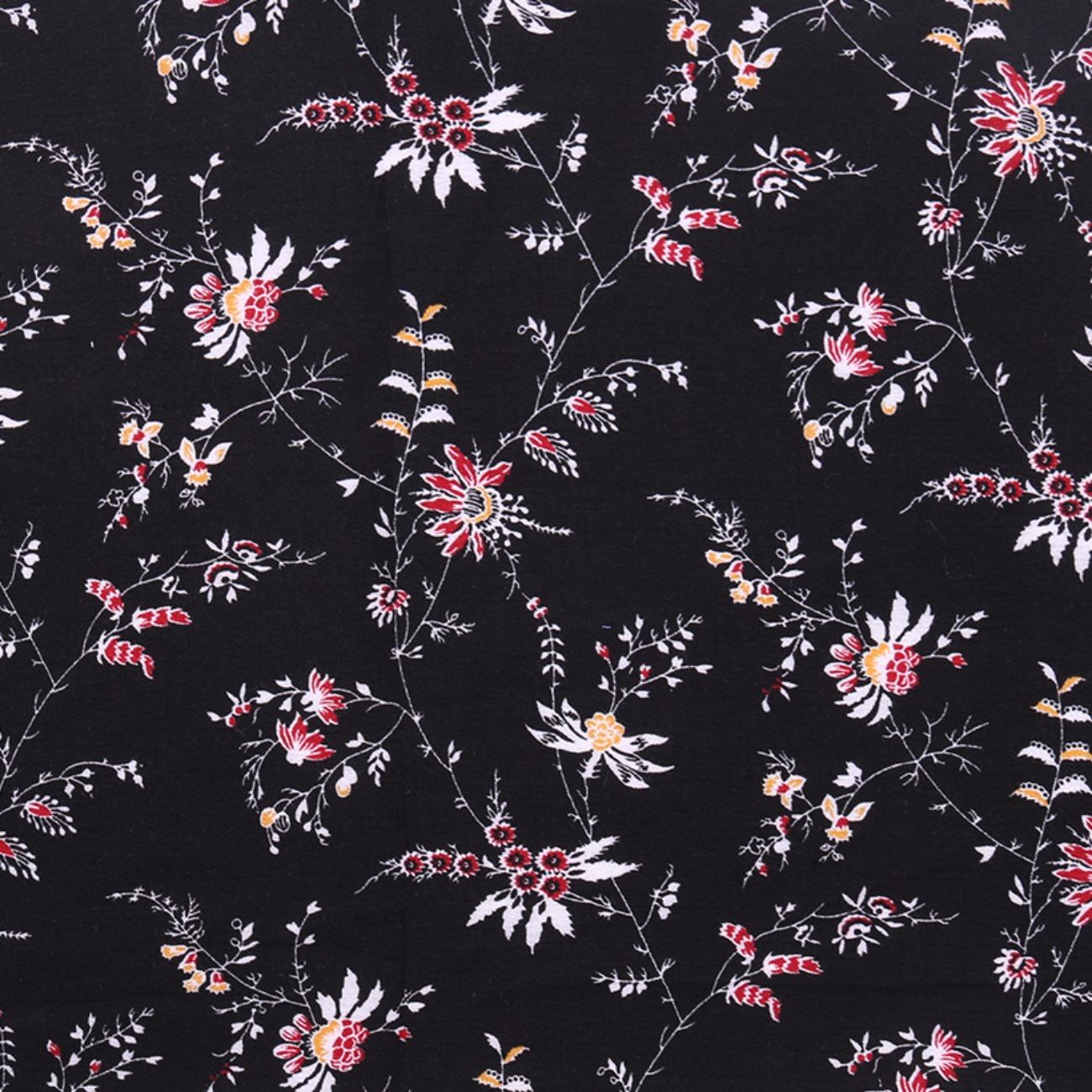 人棉皱 植物 梭织 印花 低弹 衬衫 连衣裙 短裙 棉感 现货 薄 70522-1