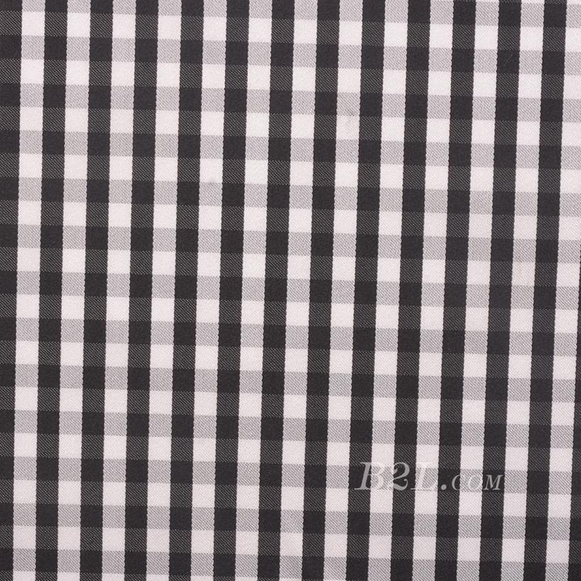全涤 格子 朝阳格 无弹 色织 梭织 衬衫 女装 春秋 71229-17