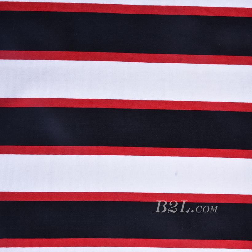 条子 横条 圆机 针织 纬编 T恤 针织衫 连衣裙 棉感 弹力 罗纹60312-7