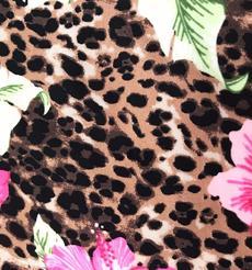添瑞纺织厂家直销豹纹印花莱卡布