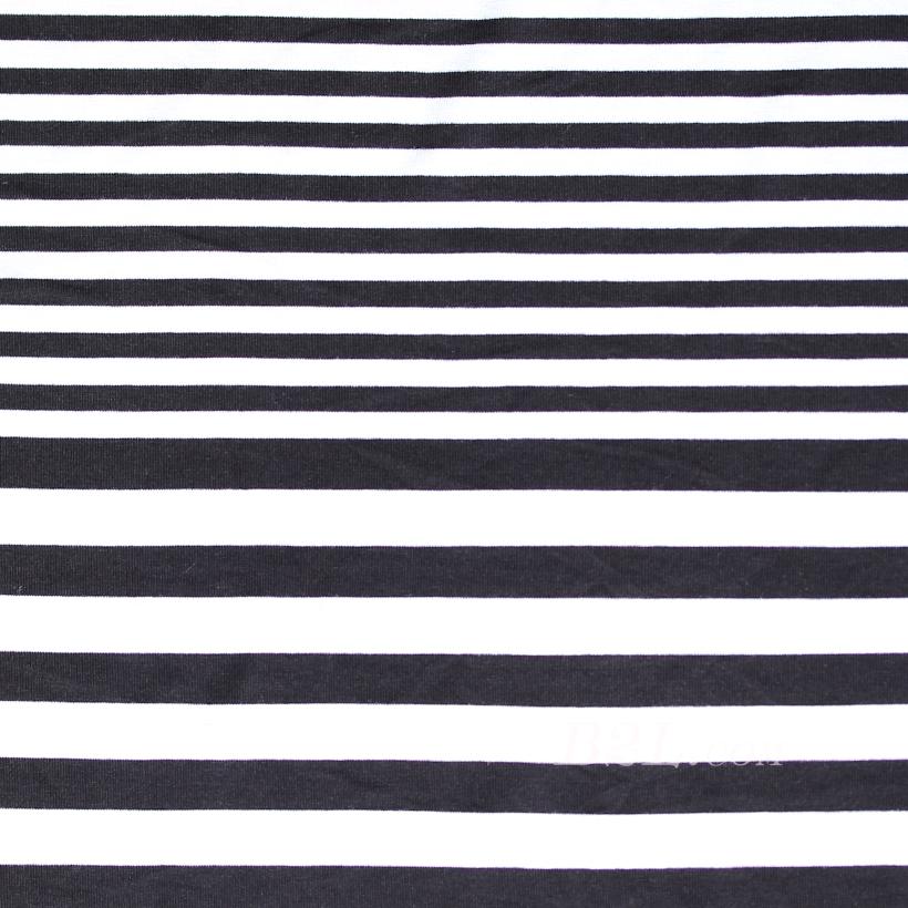 条子 横条 圆机 针织 纬编 T恤 针织衫 连衣裙 棉感 弹力 60312-80