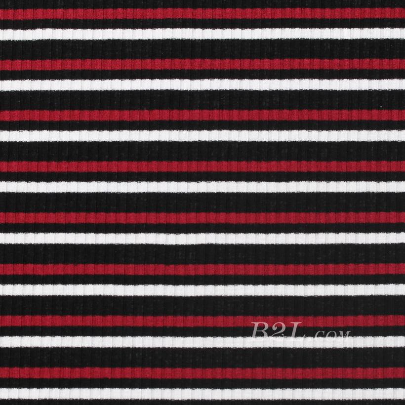 条子 横条 圆机 针织 纬编 T恤 针织衫 连衣裙 棉感 弹力 罗纹 60312-55
