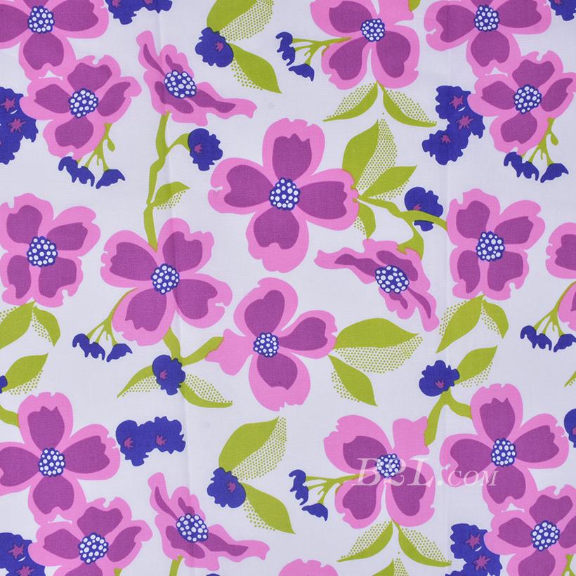 印花 全棉 花朵 棉感 梭织 低弹 薄 连衣裙 寸衫 四季 女装 童装 80302-15