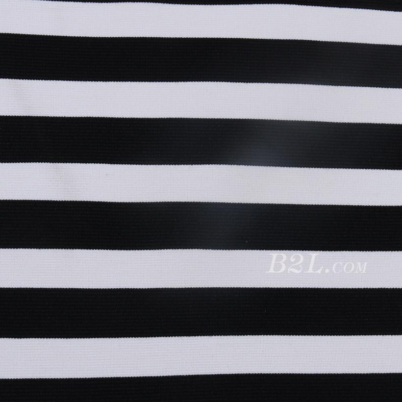 条子 横条 圆机 针织 纬编 T恤 针织衫 连衣裙 棉感 弹力 罗纹60312-39