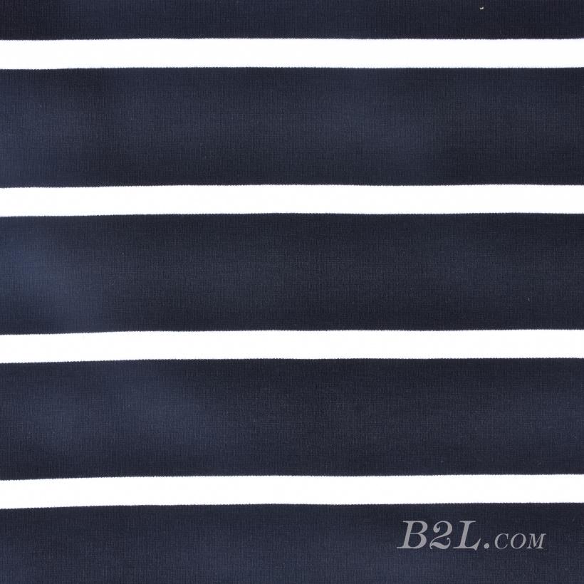 条子 横条 圆机 针织 纬编 T恤 针织衫 连衣裙 棉感 弹力 罗纹60312-19