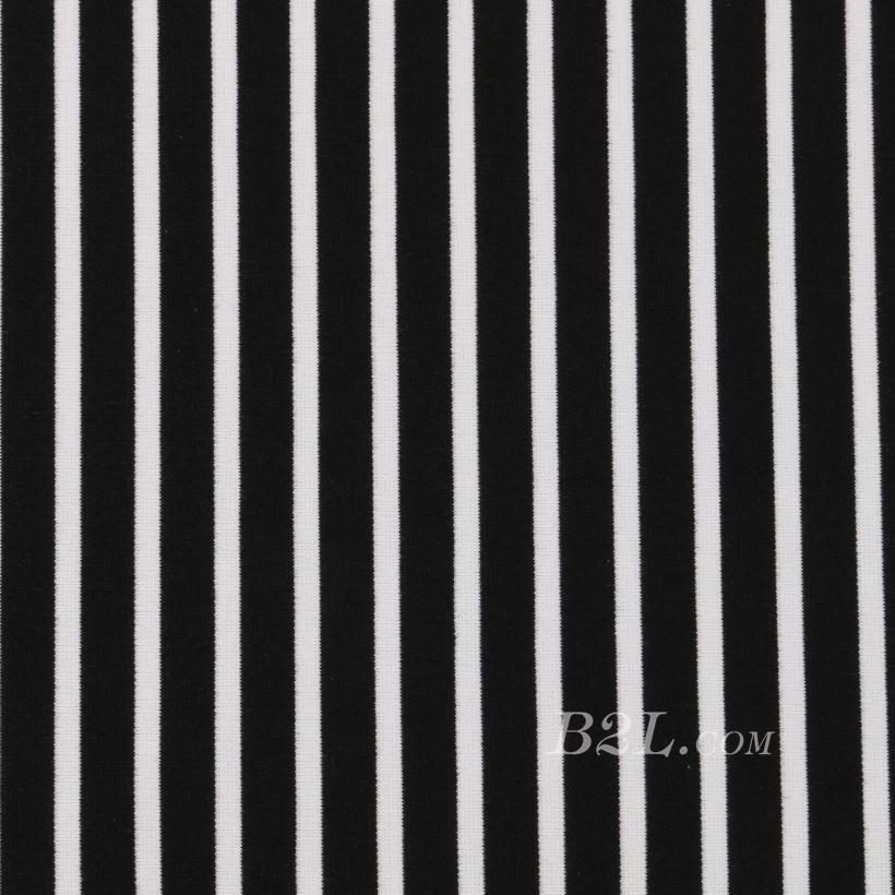条子 横条 圆机 针织 纬编 T恤 针织衫 连衣裙 棉感 弹力 60312-47