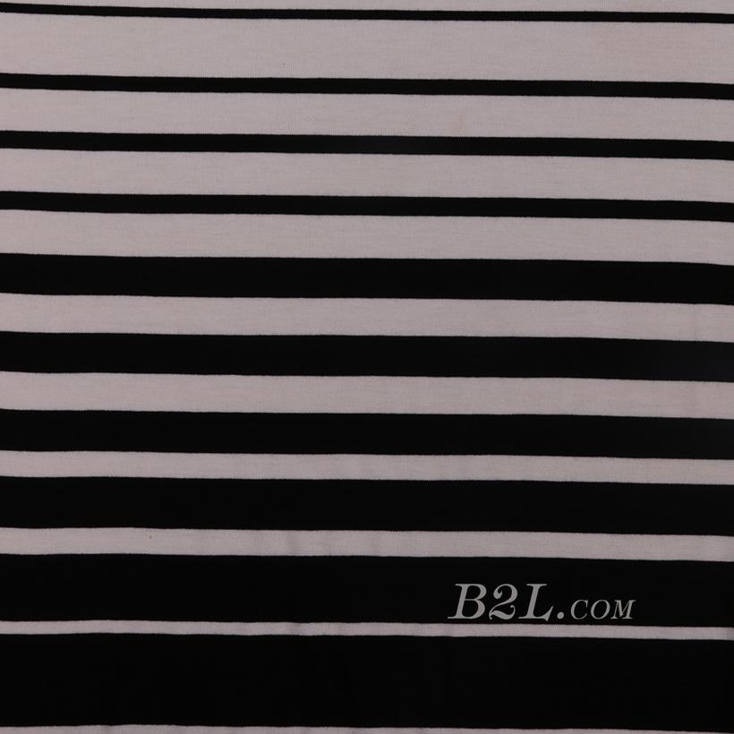 条子 横条 圆机 针织 纬编 T恤 针织衫 连衣裙 棉感 弹力 定位 60312-76