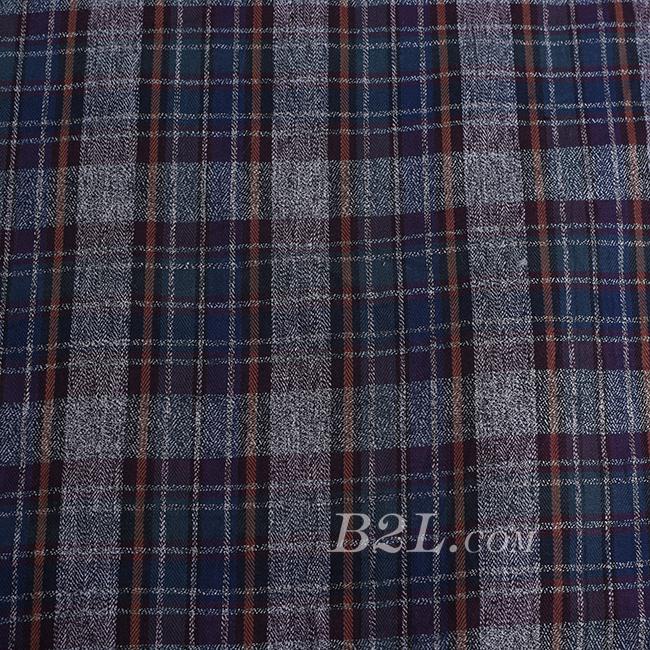 格子 全棉 色织 低弹 衬衫 短裙 60620-2