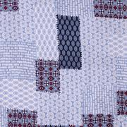 人棉皱 现货 几何 梭织 印花 无弹 衬衫 连衣裙 短裙 棉感 薄 70522-10