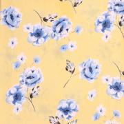 印花 花朵 梭织 人棉皱 现货 无弹 衬衫 连衣裙 短裙 棉感 薄 70522-12