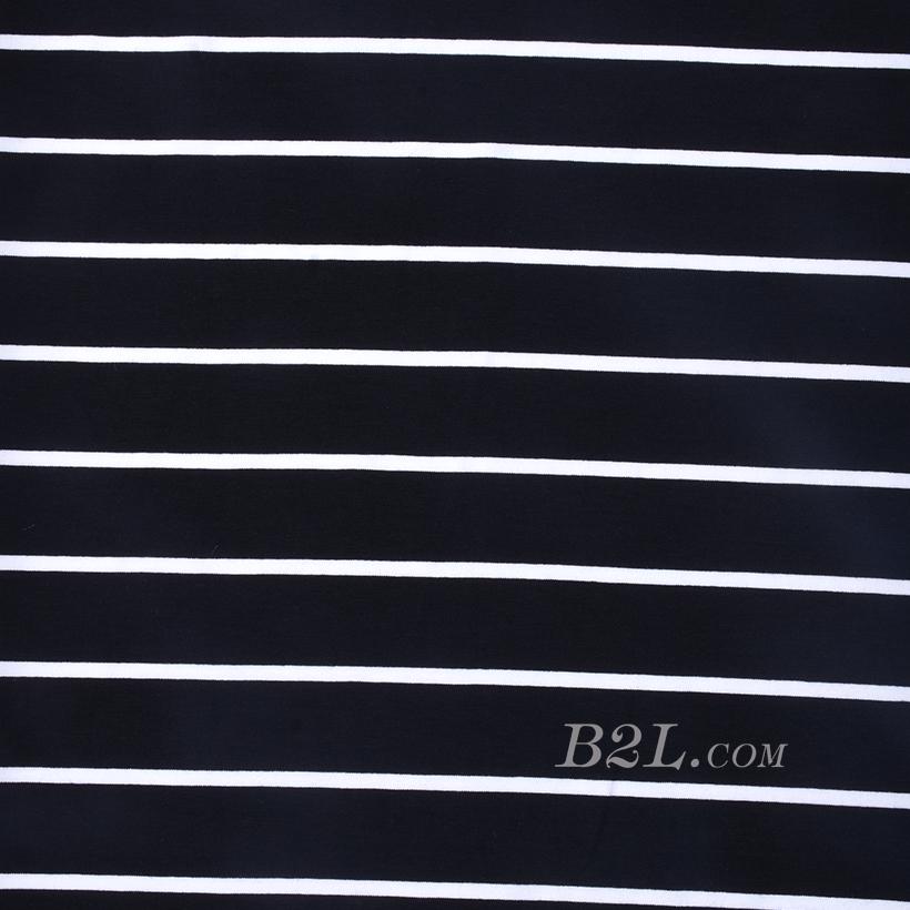 条子 横条 圆机 针织 纬编 T恤 针织衫 连衣裙 棉感 弹力 60312-149