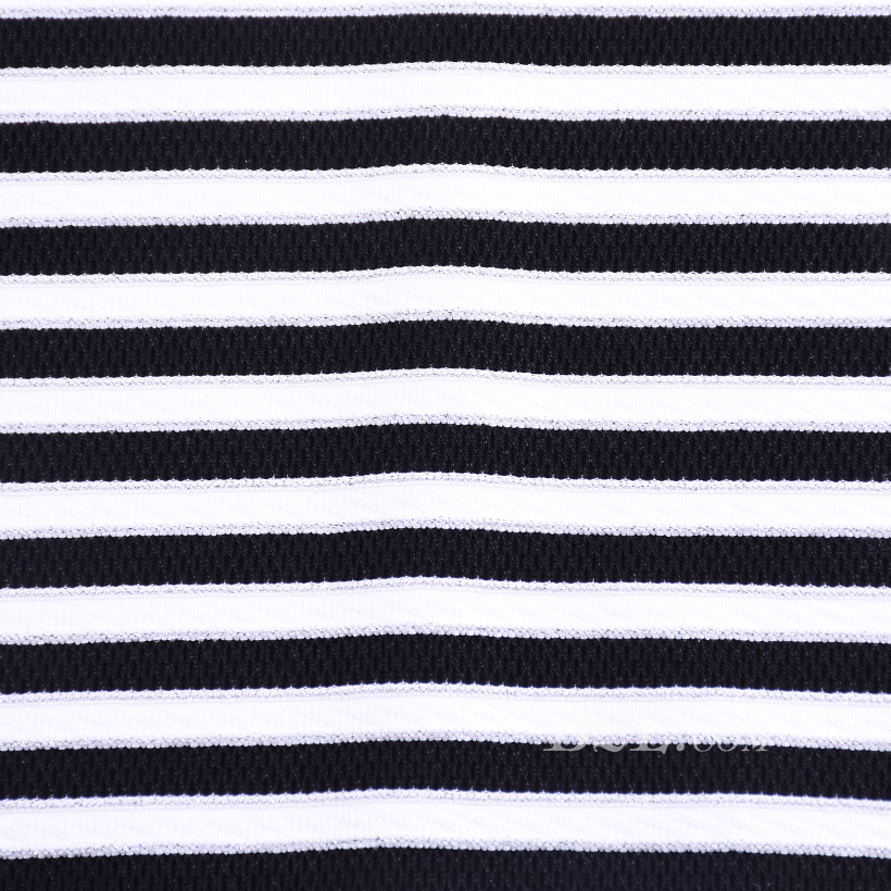 条子 横条 圆机 针织 纬编 T恤 针织衫 连衣裙 棉感 弹力 60312-128