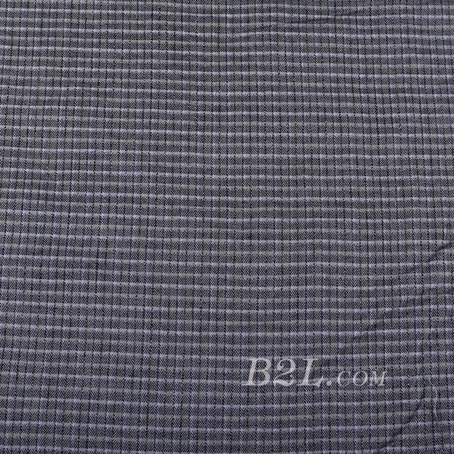 格子 棉感 色织 斜纹 无弹 外套 衬衫 大衣 裤子 60620-12