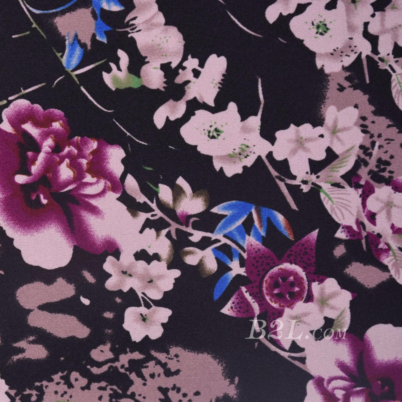 现货花朵印花针织  T恤  针织衫 连衣裙  妈妈装四面弹 柔软 圆机 纬编 单面60314-3