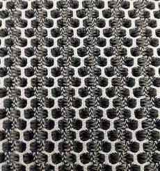 黑白六边形三明治网布面料