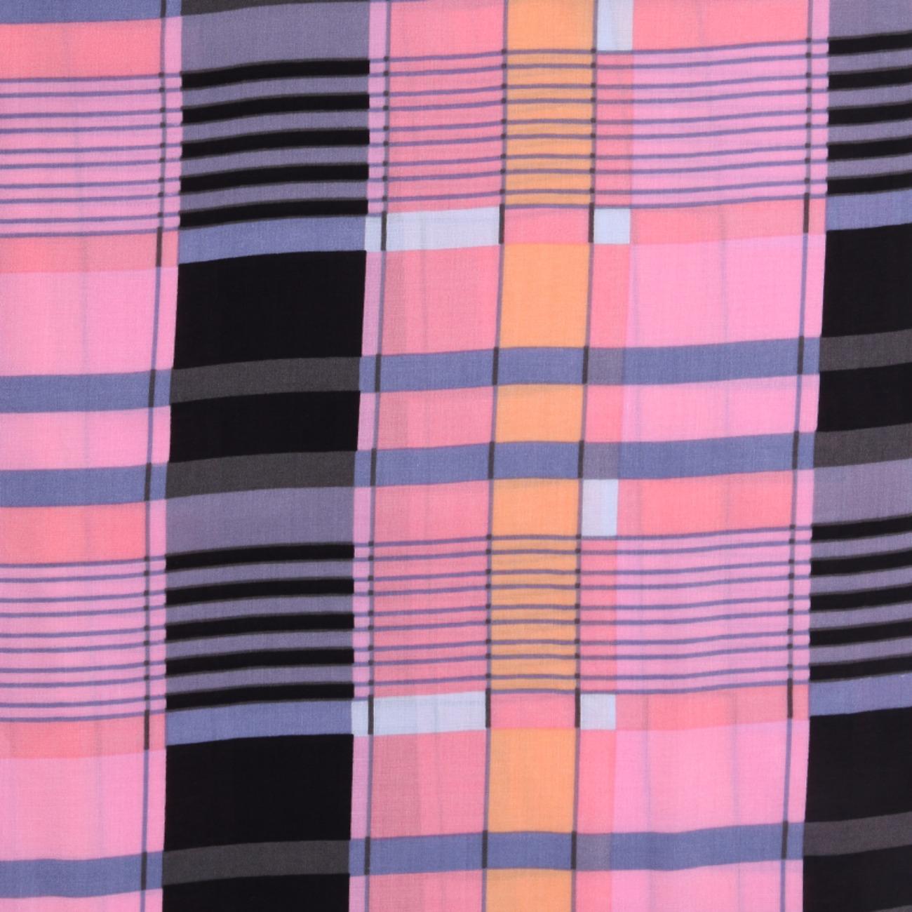 人棉期货格子梭织印花无弹衬衫连衣裙 短裙 薄 棉感 70522-45