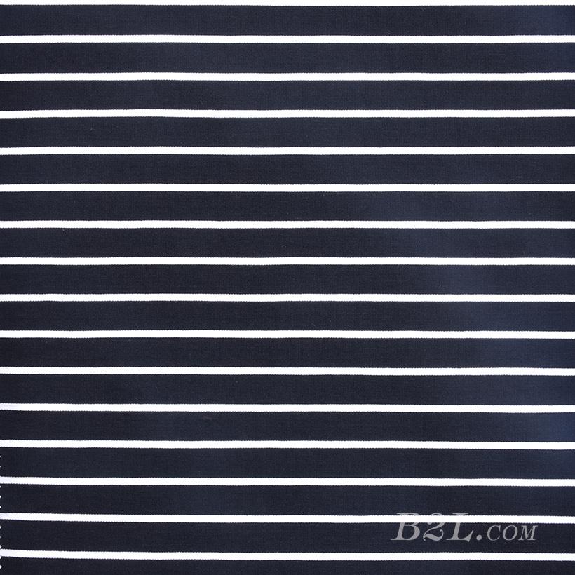 条子 横条 圆机 针织 纬编 T恤 针织衫 连衣裙 棉感 弹力 60312-20