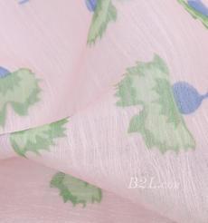 燕窝丝 花朵 梭织 印花 无弹 衬衫 连衣裙 薄 春夏 女装 71227-8